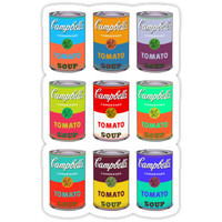 'Andy Warhol Campbell's soup cans pop art' Sticker by triptees