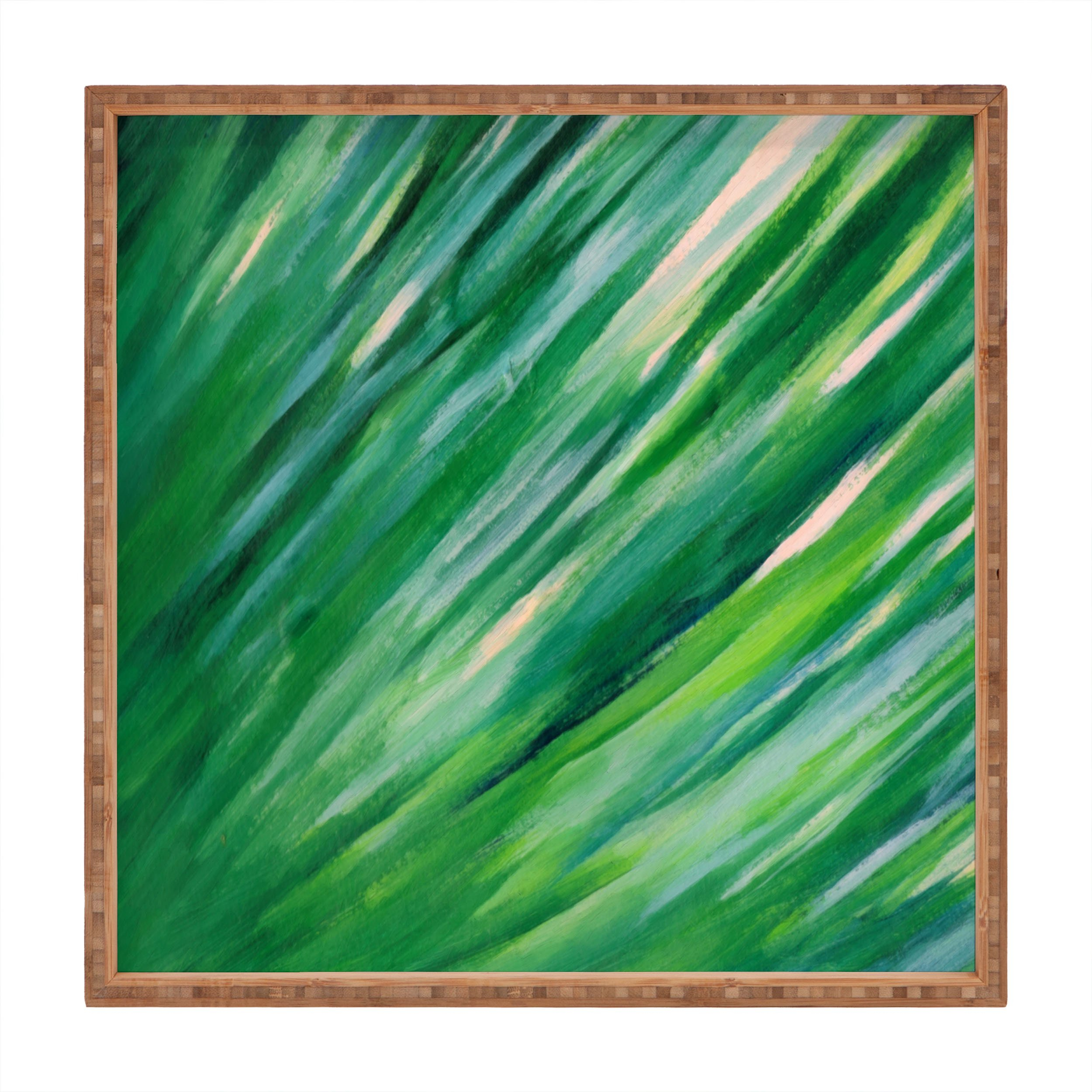 Image of Rosie Brown Blades Of Grass Square Tray