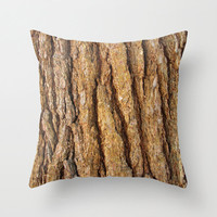 Throw Pillow Cover - White Pine Bark - FREE US SHIPPING