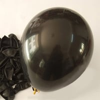 Latex Balloons Party Supplies, 12-inch, 12-piece, Black