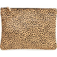 Sole Society 'Dolce' Genuine Calf Hair Clutch | Nordstrom
