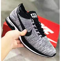 NIKE Air Zoom Mariah Flyknit Racer Fashion New Hook Sports Leisure Women Men Shoes Gray