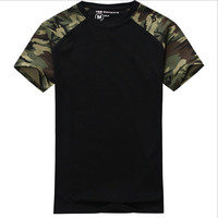Men's Casual Camouflage T-shirt Sport Fashion