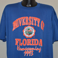 90s Florida University Gators Homecoming 1993 t-shirt College Extra-Extra-Large