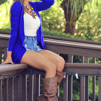 The Real Housewife Cardigan: Royal Blue | Hope's