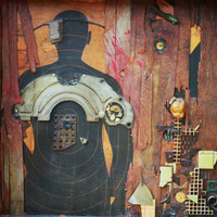 """Large Assemblage """"Like Father Like Son"""" found art"""