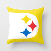Steel City Throw Pillow by Shipwreck Moon Designs