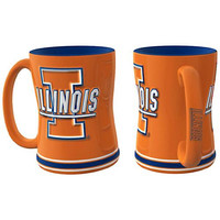Illinois Fighting Illini NCAA Coffee Mug - 15oz Sculpted (Single Mug)