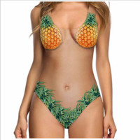 Sexy melon and shell skin color Swimwear swimsuit Women's bikini Pineapple ONE PIECE BIKINIS