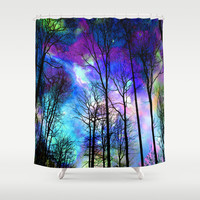 fantasy sky Shower Curtain by Haroulita