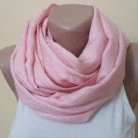 Infinity Scarf,  Loop Circle, Pink Scarf, Spring Accessory, women scarf, mothers day gifts, women accessories