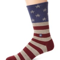 Stance Men's The Fourth Crew Sock, Red, Large/X-Large