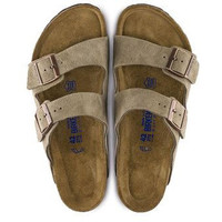 Birkenstock Arizona Soft Footbed Suede Sandal- Taupe