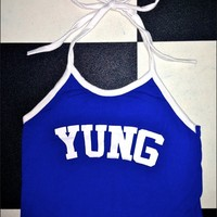 SWEET LORD O'MIGHTY! YUNG HALTER IN BLUE