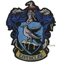 """Licensed cool Harry Potter Ravenclaw Bird Crest Embroidered IRON ON Patch Badge 3 1/2"""" x 4"""""""