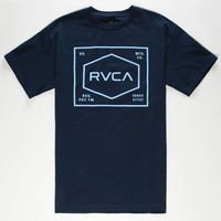 Rvca Rvca Plate Mens T-Shirt Navy  In Sizes