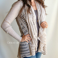 Oversized Knit Cardigan (PREORDER) - Grace and Lace