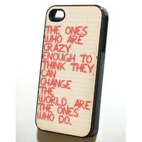 "iPhone 4/4s Case Steve Jobs ""Crazy"" (Silicone - Black)"