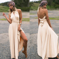 Summer Sexy Women Vintage Bohemia Maxi Beach Dress Hippie Boho Chic Long Dress Bridesmaids Dress Robe Longue Femme