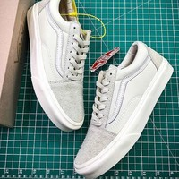 Vans Vault x Our Legacy Old Skool Pro 92 VN0A38G7N86 All White Skate Shoes