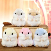 10cm Cute Plush Toys Kawaii Bag Backpack Pendant Keychain Stuffed Animals Kids Toys for Children Girl Birthday Gift Hamster Doll