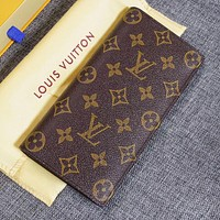 LV Louis Vuitton CLASSIC MONOGRAM LEATHER WALLET