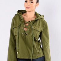 Working Girl Jacket - Olive