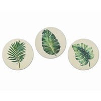 Leaves on Wooden Circles Wall Decor Set of 3