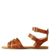 Tan Bamboo Crisscross Flat Sandals by Bamboo at Charlotte Russe