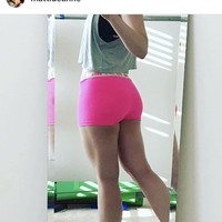 Neon Pink Spandex Workout Shorts | Activewear