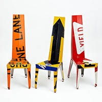 Transit Chair by Boris Bally: Recycled Metal Chair | Artful Home