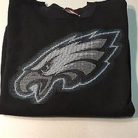 PHILADELPHIA EAGLES BLACK LOGO NFL SWEATSHIRT SHIPPING
