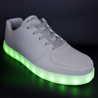 Light Up LED Shoes - Stone Grey