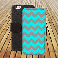 iphone 5 5s case Chevron lighting blue iphone 4/ 4s iPhone 6 6 Plus iphone 5C Wallet Case , iPhone 5 Case, Cover, Cases colorful pattern L125