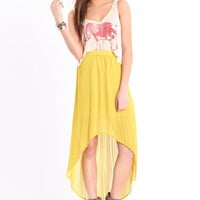 Yellow Fever Asymmetrical Skirt - $38.00 : ThreadSence.com, Your Spot For Indie Clothing  Indie Urban Culture