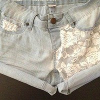 Sirrah's Closet — White Laced Front Shorts