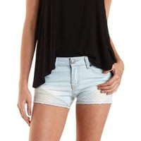 Lt Wash Denim Top-Stitched Light Wash Denim Shorts by Charlotte Russe