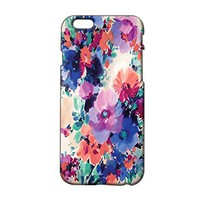 Flower Pattern Plastic Phone Case for Iphone 6