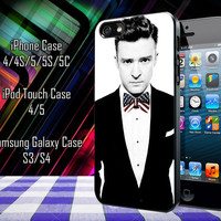 Justin Timberlake American Flag Tie Style Samsung Galaxy S3/ S4 case, iPhone 4/4S / 5/ 5s/ 5c case, iPod Touch 4 / 5 case