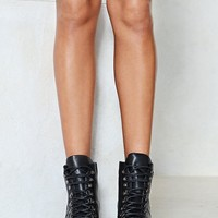 Walk On By Faux Leather Boot