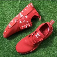 adidas NMD x LV Louis Vuitton Boost Fashion Trending Leisure Running Sports Shoes RED