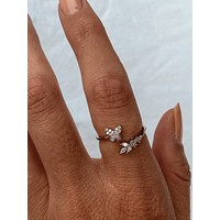 Butterfly Ring 18k Gold Dipped (Silver)