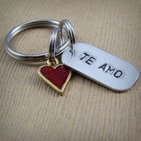 Te Amo (Spanish I Love You) - Red Heart Keychain