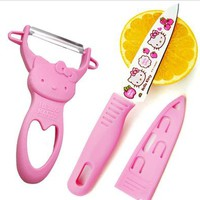 hello kitty fruit knife apple peeler paring knife fruit peeled stainless steel tool kit