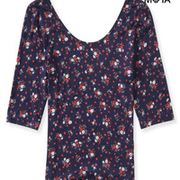 Aeropostale  Womens Floral Bodycon T-Shirt
