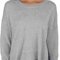 FINAL SALE- Gray Hi And Low Sweater