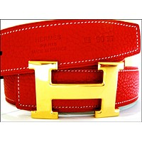 Sports Hermes Belt Red