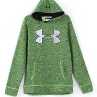 Under Armour Storm Armour Twist Fleece Big Logo Hoodie for Men in Fuel Green 1259778-363