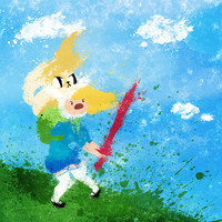 Adventure Time : Fionna and Cake Art Print by Melissa Smith