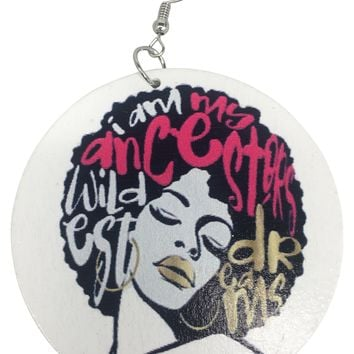 Natural Afro Hairstyle Earrings | Afrocentric earrings | Natural hair jewelry